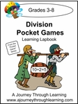 Division Facts Pocket Games Lapbook-8.00