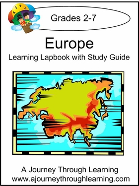 Europe Lapbook with Study Guide--8.00
