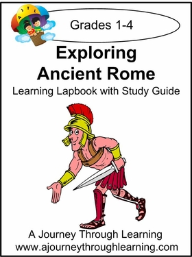 Exploring Ancient Rome Grades 1-4 Lapbook with Study Guide--8.00