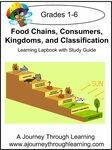 Food Chains, Consumers, Kingdoms, Classification Lapbook -8.00
