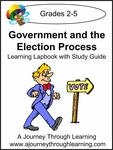 Government and the Election Process Grades 2-5 Lapbook with Study Guide-8.00