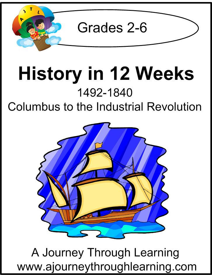 History in 12 Weeks Unit Study Instant Download