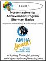 Horsemastership Achievement Program Sherman Badge Level 3