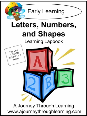 Letters, Numbers and Shapes Preschool Lapbook-8.00