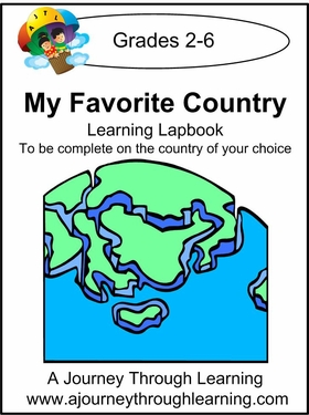 My Favorite Country Lapbook--8.00