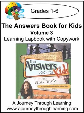 New Leaf Press- The Answers Book for Kids Volume 3 Lapbook
