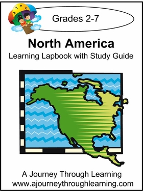 North America Lapbook with Study Guide--8.00