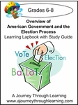 Government and the Election Process Grades 6-8 Lapbook with Study Guide-8.00