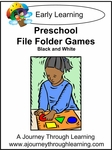 Preschool File Folder Games (Coloring Book graphics)-5.00
