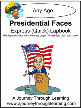 Presidential Faces Express (Quick) Lapbook Only 1.00!