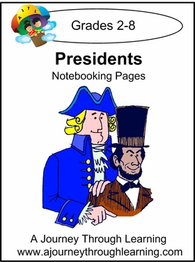 Presidents Notebooking Pages--4.50