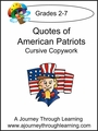 Quotes of American Patriots Cursive Copywork--4.50