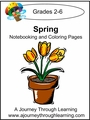 Spring Notebooking and Coloring Pages--4.50
