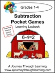 Subtraction Pocket Games Lapbook-8.00