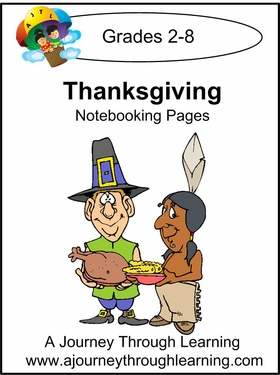 Thanksgiving Notebooking Pages--4.50