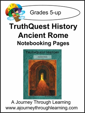 TruthQuest History Ancient Rome Notebooking Pages