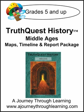 TruthQuest Middle Ages Maps, Timeline, and Report Package