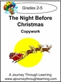 The Night Before Christmas Copywork Cursive Style 2--4.50