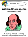 William Shakespeare Notebooking Pages--4.50