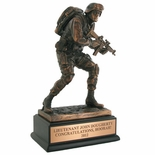 10 INCH MARINE TROPHY, ELECTROPLATED IN BRONZE