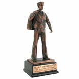 11-1/2 INCH NAVY SEAMAN TROPHY, ELECTROPLATED IN BRONZE