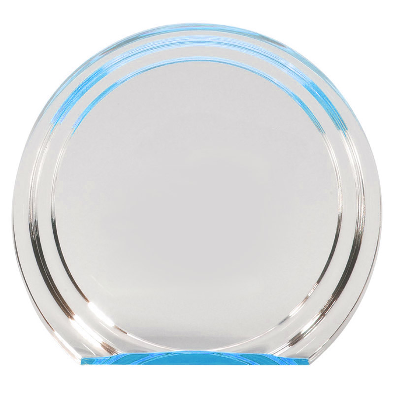 6 1 4 Quot X 7 Quot X 1 Quot Double Halo Acrylic Award With Reflective