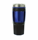 BLUE TRAVEL MUG SCREW ON TOP 16OZ