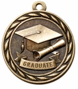 L Series, 2 Inch Antique Brass Academic Medal Series