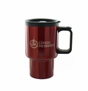 RED TRAVEL MUG 16 OZ