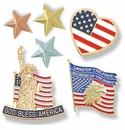 Selected Flag and Star Lapel Pins - 10% Discount
