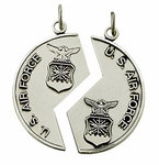 Sterling Silver Military Medals and Dog Tags