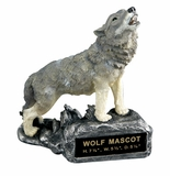 WOLF HOWLING MASCOT TROPHY