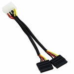 Molex to Dual SATA Adapter Cable