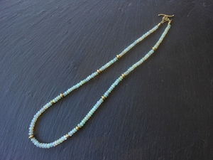 Ethiopian Opal Necklace with Opal Rondell Beads