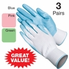 Assorted Womens Garden Gloves - Set of 3