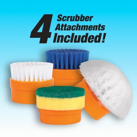 Battery Operated Scrubber <br>with 4 Attachments