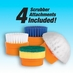 Battery Operated Scrubber with 4 Attachments