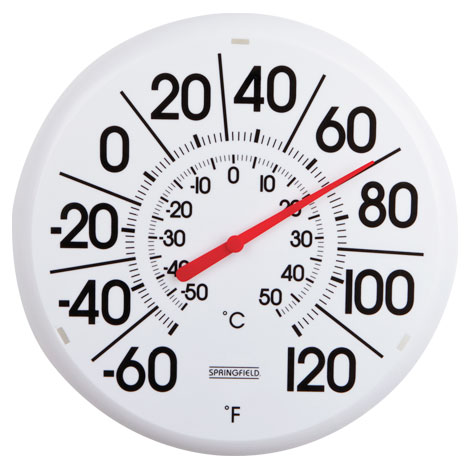 Big and Bold Outdoor Thermometer