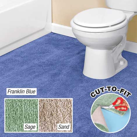 Cut To Fit Bathroom Carpet 5X6