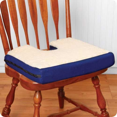 Gel Coccyx Cushion with Fleece Top