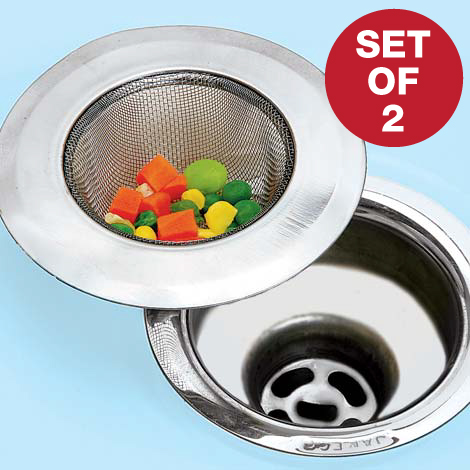 Kitchen Stainless Steel Sink Strainer - Set of 2