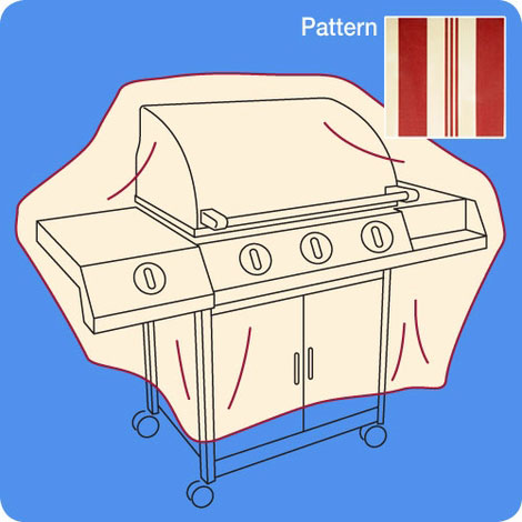 Outdoor Small Wagon Grill Cover by QCI