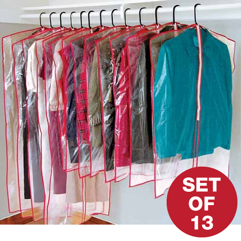 Zippered Garment Bags - Set of 13