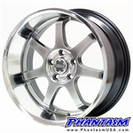 AXIS WHEELS - WIDE TRACK - HYPER BLACK COLOR (18 x 8.0) +20 ET (4 x 100 MM) 110 MM LIP