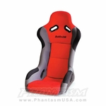BUDDY CLUB, RACING SPEC, BUCKET SEAT, WIDE WIDTH (RED COLOR) BC08-RSBKSM-R