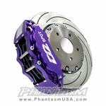 D2 Racing (D2-BBKF6286) Front, Big Brake Kit - 6 Piston Caliper, with 286mm Disc