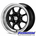 Enkei Wheels - J Speed - Black Machined Lip (15 x 8.0) +25 mm (4 x 100)