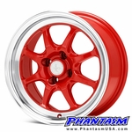 Enkei Wheels - J Speed - Red Machined Lip (15 x 8.0) +25 mm (4 x 100)