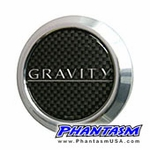 Gravity Wheels - Gullflame Center Cap - Carbon Fiber Center, Silver Logo (4 Piece Set)