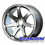 Gravity Wheels - Gullflame - Gun Polish Color (18 x 8.5) +35 ET (5 x 114.3 MM) Complete Set of Wheels for ... Mitsubishi EVO, Nissan 240sx